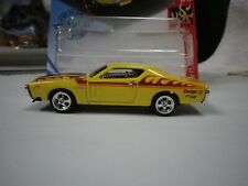 2020 Hot Wheels Yellow 71 Dodge Charger With Red Flames Custom Real Riders