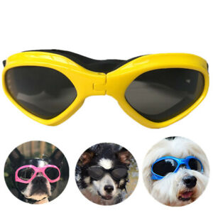 Dog Sunglasses Dog Goggles with Adjustable Strap for Medium to Extra Small Breed