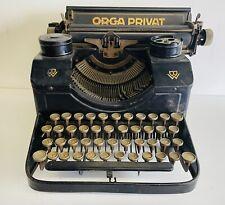 Orga Privat Model 3 Typewriter