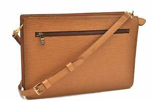 Auth Louis Vuitton Epi Enghien Shoulder Clutch Bag 2Way Yellow M52116 LV A7917