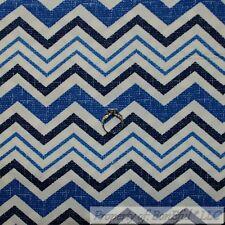 BonEful Fabric FQ Cotton Woven Decor Blue White Tone Tonal Chevron Stripe Boy Lg