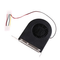System PCI Slot Blower CPU Case DC Cooling Fan 12v 4pin Cooler For PC LaptoBLUS