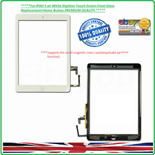 IPAD 5 air White Digitizer Touch Screen Front Glass+Home Button*premium quality