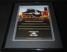 2001 Chevrolet Silverado Framed 11x14 ORIGINAL Advertisement B