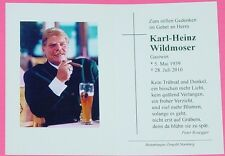 ORIGINAL STERBEBILD KARL - H. WILDMOSER - PRÄSIDENT TSV 1860 MÜNCHEN / GASTWIRT