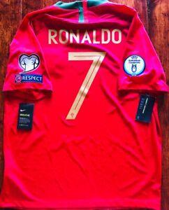2018/19 Nike Portugal #7 RONALDO Nations League Winner Home Jersey 893877 687
