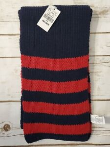 The Children's Place Knit Red/blue Scarf One Size NWT