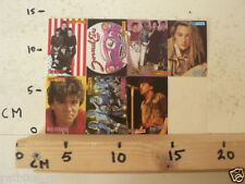 STICKER,DECAL MUSIC SHEET 7 STICKERS BEATLES,SCORPIONS,YOUNG,ANGELO,CULTURE CLUB