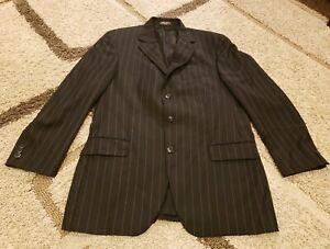 2 Piece Suit Set BACHRACH Men's 42L Blazer 42L Pants 100% Laine Wool