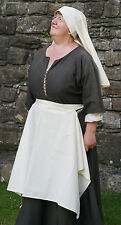 Medieval/LARP/Re enactment/LARP/Roleplay LADIES HEAD DRESS & APRON SET one Size