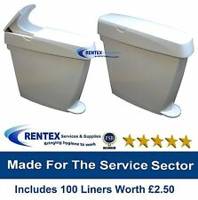 Sanitary Bin Feminine Ladies Hygiene Waste Disposal + Female Unit Liners 20 Ltr
