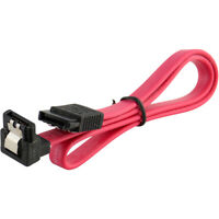 "18"" SATA 3.0 Cable SATA3 III 6GB/s Right Angle Serial ATA SSD Hard Drive, Red"