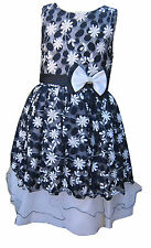 Girls Dress by KCL London Pretty Bow Dress Party/Prom Ages 2 Years up to 13 Year