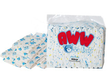 Blue Teddy Bear Printed Absorbent Disposable Adult Diapers - SMALL SIZE