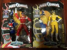 """NEW RED & YELLOW POWER RANGERS LEGACY """"IN SPACE"""" Action Figure W/ BAF MEGAZORD"""