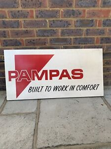 Vintage Pampas truck garage shop advertising wooden sign - collectable and VGC