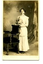 Young Lady-Mourning Corsage-Duluth Minn Studio-RPPC-Vintage Real Photo Postcard