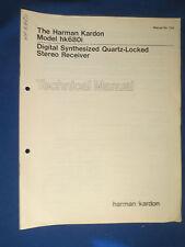 HARMAN KARDON hk680i TECHNICAL SERVICE MANUAL ORIGINAL FACTORY ISSUE REAL THING
