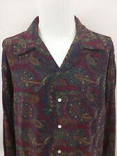 Polo by Ralph Lauren Multi Color Paisley Disco Long Sleeve Mens Shirt Size XL