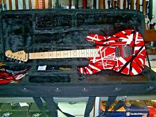 EVH Striped Series Electric Guitar Red with Black and White Stripes