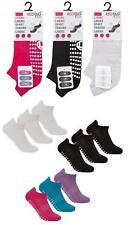 Ladies 3 pack Yoga / Pilates / Sports / Gym / Ballet / Gripper Non Slip Socks