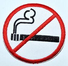 No Smoking sign symbol warning cigarette smoke applique iron on patch new