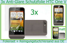 3x HTC One V Handy Anti reflex Glare Display Schutz Folie matt Screen PROTECTOR
