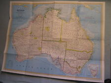 AUSTRALIA MAP LAND OF LIVING FOSSILS National Geographic February 1979 MINT