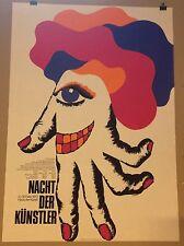POP ART POSTER PLAKAT FASCHING MÜNCHEN 1973 NACHT DER KÜNSTLER HAUS DER KUNST