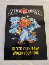 HELLOWEEN 1998 Better Than Raw UK Concert Tour Program Book!!!