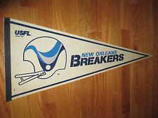 """1982 USFL NEW ORLEANS BREAKERS 30"""" Pennant"""