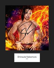 SHINSUKE NAKAMURA #2 (WWE) Signed (Reprint) 10x8 Mounted Photo Print - FREE DEL