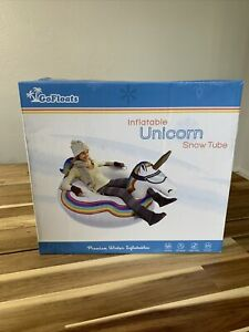 GoFloats Winter Snow Tube -  Unicorn -  Ultimate Sled Inflatable Pool Or Snow