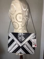 $79 Zara Woman Metal Chain Animal Print Design Crossbody Handbag Clutch NWT