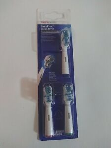 CVS Health EasyFlex Dual Zone Replacement Tooth Brush Heads 3 Ct Infinity