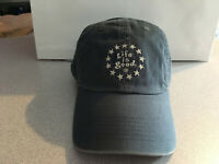 "Life Is Good Cap Hat Script Stars Round EMB Navy ""Buy 4 Get 1 Free"""