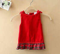 Baby Girls Kids Christmas Sleeveless Vest Wedding party dress 0-6months 000-00