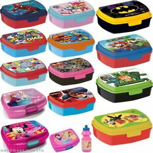 kids childrens boys girls sandwich box tub school pack lunch storage container
