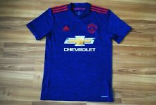 MANCHESTER UNITED AWAY FOOTBALL SHIRT JERSEY 2016/2017 ADULT SMALL ADIDAS BLUE