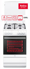 Amica Standherd Elektro-Backofen Gaskochfeld mit Grill 50cm Weiß SHEG 11557 W