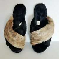 INC International Concepts Womens US Black Brown Soft Bed Slippers See Sizes