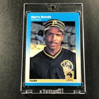 BARRY BONDS 1987 FLEER #604 ROOKIE CARD RC PITTSBURGH PIRATES