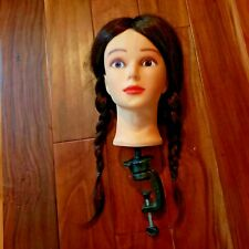 Female Mannequin Head W/ Holding Clamp For Displaying Hats Scarves Jewelry Euc