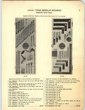 1923 PAPER AD Stiletto Draw Knife Chisels Hardware Store Tool Display Wall Board