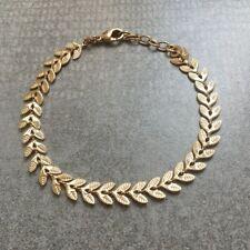 Bracelet chaîne feuille de laurier plaqué or - LAURIER