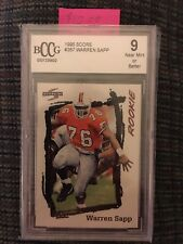 Warren Sapp RC Score '95 Beckett 9