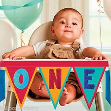 Rainbow Colori 1st compleanno di un seggiolone Pennant Banner Decorazione Kit