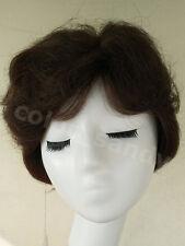 100% Human Hair Wig Echthaare Perücke Kurz Gwellt Wigs Dunkelbraun