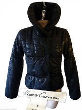 Kenneth cole puffy flare collar shiny winter ski shiny goth black small puffer