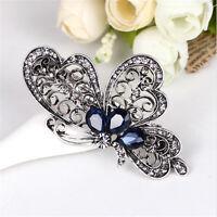 Women Blue Butterfly Fashion Hair Clip Barrette Trendy Hair Accessories Jewelry